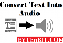 Convert Text into Audio | ByteNbit