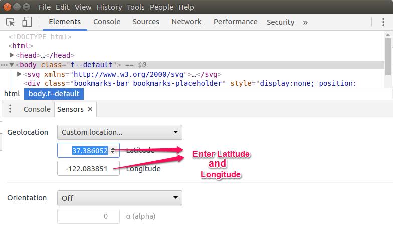 Custom Location in Chrome | ByteNbit