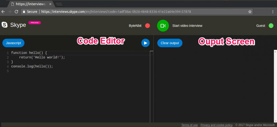Skype Code Editor