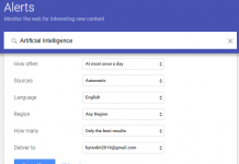 Create Google Alerts – Never Miss Informative Web Content