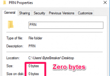 Undeletable folder metadata