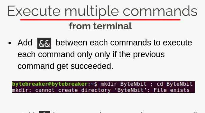 Run multiple commands simultaneously